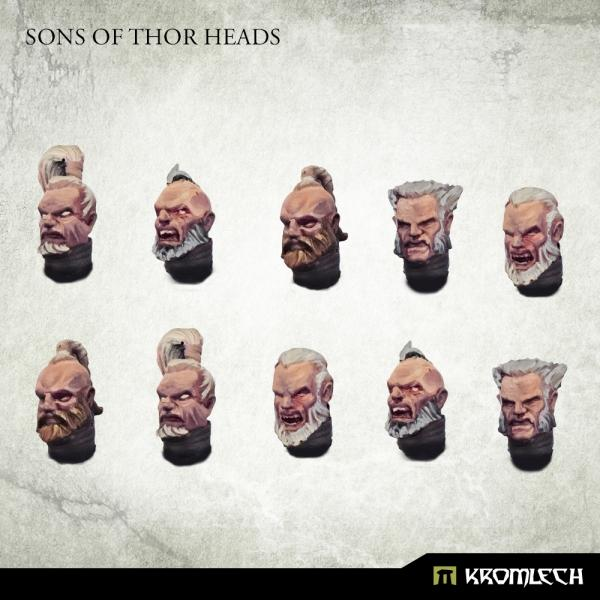 Kromlech   Legionary Conversion Parts Sons of Thor Heads - KRCB278 -
