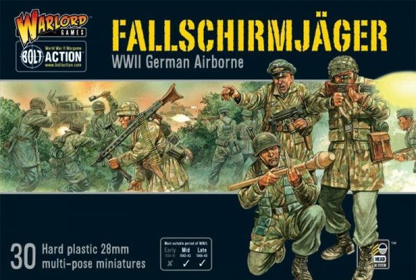 Warlord Games Bolt Action  Germany (BA) Fallschirmjager (plastic) - WGB-FJ-02 - 5060393702252