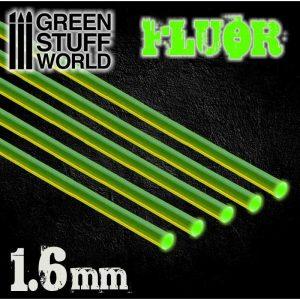 Green Stuff World   Acrylic Rods Acrylic Rods - Round 1.6 mm Fluor GREEN - 8436554367474ES - 8436554367474