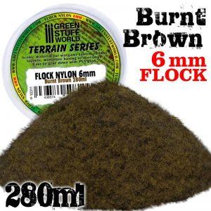 Green Stuff World   Sand & Flock Static Grass Flock 6 mm - BURNT Brown - 280 ml - 8436574508109 -