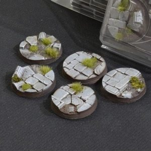 Gamers Grass   Battle-ready Temple Bases Temple Bases Round 40mm (x5) - GGB-TR40 - 738956789181