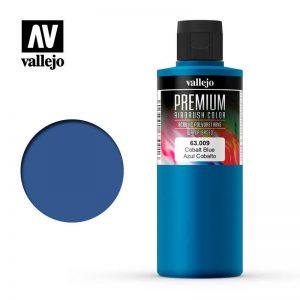 Vallejo   Premium Airbrush Colour AV Vallejo Premium Color - 200ml - Opaque Cobalt Blue - VAL63009 - 8429551630092