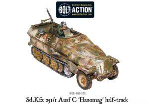Warlord Games Bolt Action  Germany (BA) Sd.Kfz 251/1 ausf C halftrack - 402012025 - 5060200845738