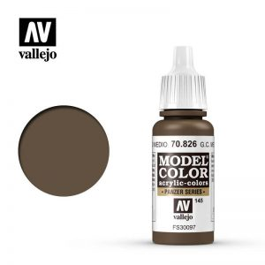 Vallejo   Model Colour Model Color: German Cam Medium Brown - VAL826 - 8429551708265