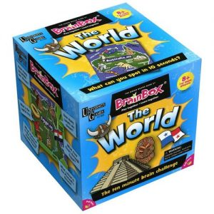 The Green Board Gaming Company BrainBox The World  BrainBox The World BrainBox The World (72 card) - GRE90001-R - 5025822900012