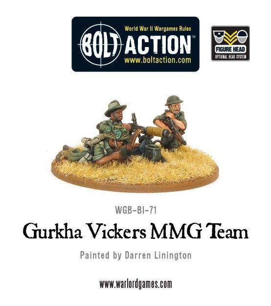 Warlord Games Bolt Action  Great Britain (BA) Gurkha Vickers MMG Team - WGB-BI-71 - 5060200845202