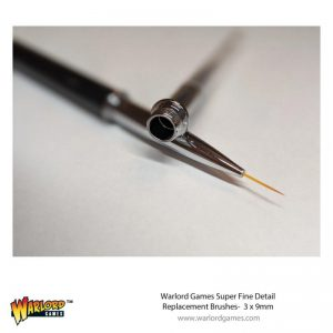 Warlord Games   Other Brushes Warlord 3 pack 9mm Replacement Brush - 843419920 - 5060572507463