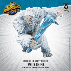 Privateer Press Monsterpocalypse  SALE! Monsterpocalypse Empire of the Apes White Dajan - PIP51066 - 875582025082