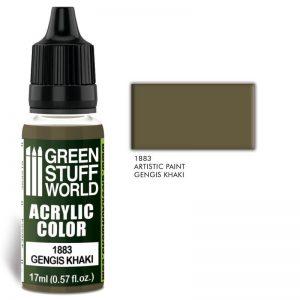 Green Stuff World   Acrylic Paints Acrylic Color GENGIS KHAKI - 8436574502428ES - 8436574502428