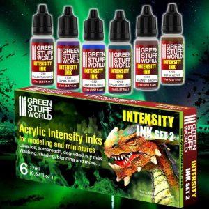 Green Stuff World   Paint Sets Set x6 Intensity Inks - Set 2 - 8436554368518ES - 8436554368518