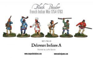Warlord Games (Direct) Black Powder  French / Indian War FIW Delaware Indians A - WG7-FIW-46 - WG7-FIW-46