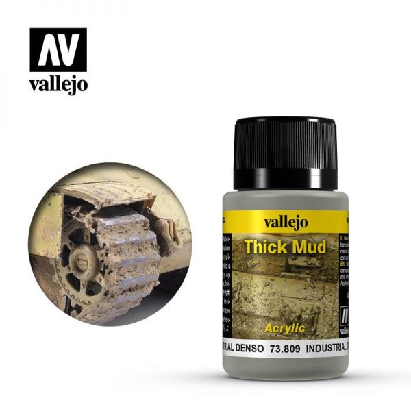 Vallejo   Weathering Effects Weathering Effects 40ml - Industrial Thick Mud - VAL73809 - 8429551738095