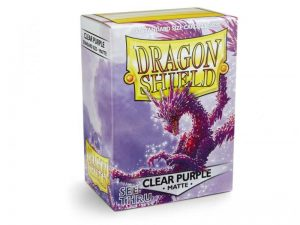 Dragon Shield   Dragon Shield Dragon Shield Sleeves Matte Clear Purple (100) - DS100MCP - 5706569110291