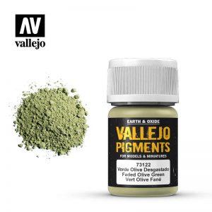 Vallejo   Pigments Vallejo Pigment - Faded Olive Green - VAL73122 - 8429551731225