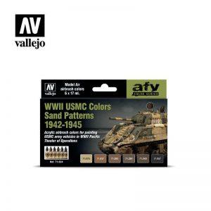 Vallejo   Model Air AV Model Air Set - WWII USMC Colors Sand Patterns 1942-1945 - VAL71624 - 8429551716246