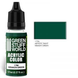 Green Stuff World   Acrylic Paints Acrylic Color KRAKEN GREEN - 8436574501551ES - 8436574501551