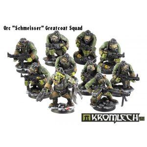 Kromlech   Orc Model Kits Orc Schmeisser Greatcoats Squad (10) - KRM022 - 5902216111479