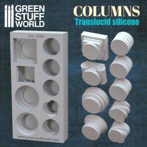 Green Stuff World   Mold Making Silicone Molds - Columns - 8435646500584ES -