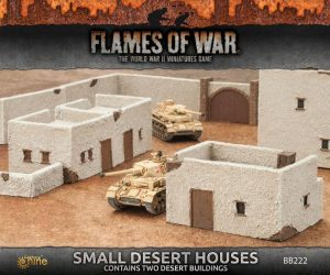 Gale Force Nine   Battlefield in a Box Flames of War: Small Desert Houses - BB222 - 9420020235717