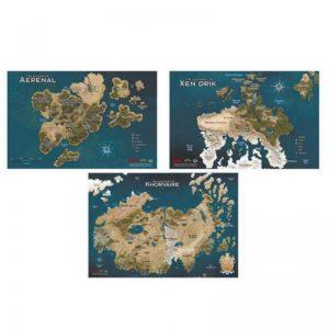 Gale Force Nine Dungeons & Dragons  D&D Game Mats D&D: Eberron Map Set - GFN72794 - 9420020249387