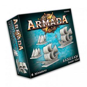 Mantic Kings of War Armada  Basileans Basilean Booster Fleet - MGARB102 - 5060469666471