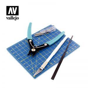 Vallejo   Vallejo Tools AV Vallejo Tools - Plastic Modelling Tool set 9pc - VALT11001 - 8429551930291