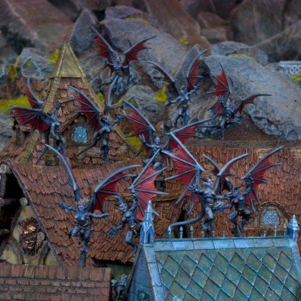 Mantic Kings of War  Abyssal Dwarves Gargoyle Troop - MGKWK24-1 - 5060208865400