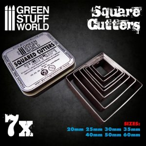 Green Stuff World   Stamps & Punches Squared Cutters for Bases - 8436574503777ES - 8436574503777