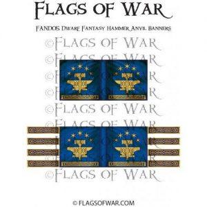 North Star Oathmark  Oathmark Dwarf Fantasy Hammer Anvil Banners - FAND05 -