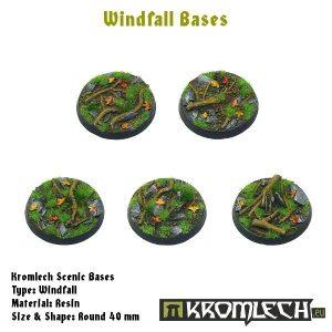 Kromlech   Windfall Bases Windfall round 40mm (5) - KRRB025 -