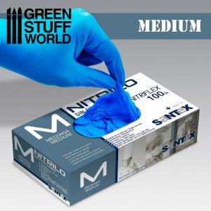Green Stuff World   Airbrushes & Accessories Nitrile Gloves - Medium - 8437001266913ES - 8437001266913