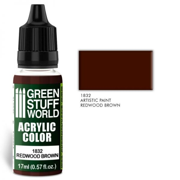 Green Stuff World   Acrylic Paints Acrylic Color REDWOOD BROWN - 8436574501919ES - 8436574501919