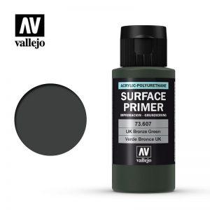 Vallejo   Model Air Primers AV Polyurethane - Primer UK Bronze Green 60ml - VAL73607 - 8429551736077
