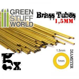 Green Stuff World   Brass Rods Brass Tubes 1.5mm - 8436554367665ES - 8436554367665