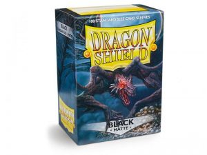 Dragon Shield   Dragon Shield Dragon Shield Matte Sleeves Black (100) - DS100MB - 5706569110024