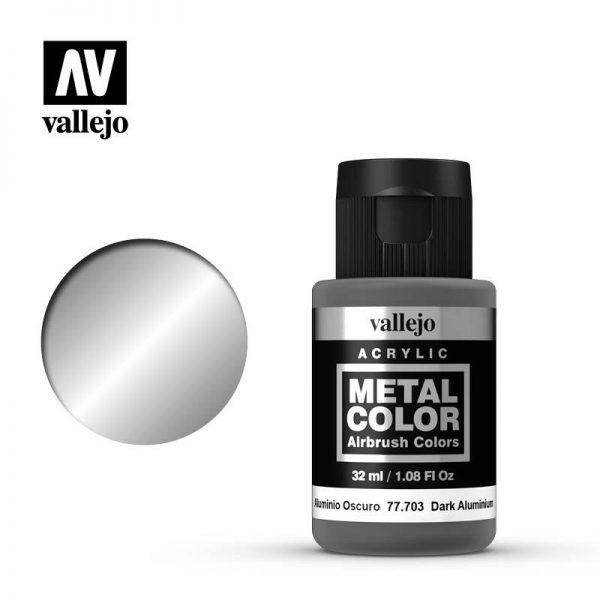 Vallejo   Metal Colour Metal Color - Dark Aluminium 32ml - VAL77703 - 8429551777032