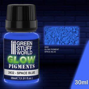 Green Stuff World   Glow in the Dark Pigments Glow in the Dark Pigment - SPACE BLUE - 8436574507911ES - 8436574507911