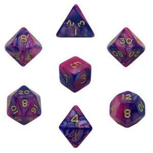 Gamescraft   Toxic Toxic Acid Dice Purple/Blue Bag of 10 D20 (1-20) - GC78146 - GC78146