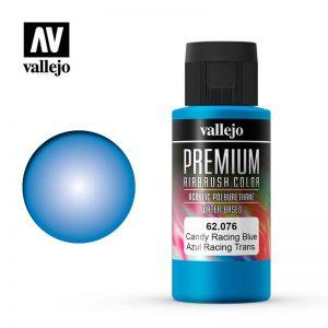 Vallejo   Premium Airbrush Colour Premium Color 60ml: Candy Racing Blue - VAL62076 -