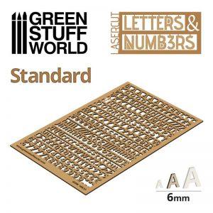 Green Stuff World   Modelling Extras Letters and Numbers 6mm STANDARD - 8435646501338ES - WWW.GREENSTUFFWORLD.COM