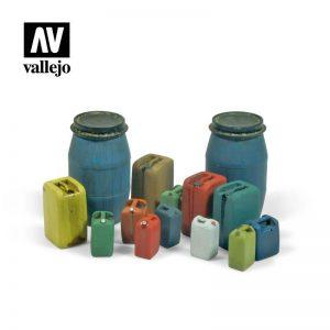 Vallejo   Vallejo Scenics Vallejo Scenics - 1:35 Assorted Modern Plastic Drums - VALSC211 - 8429551984812