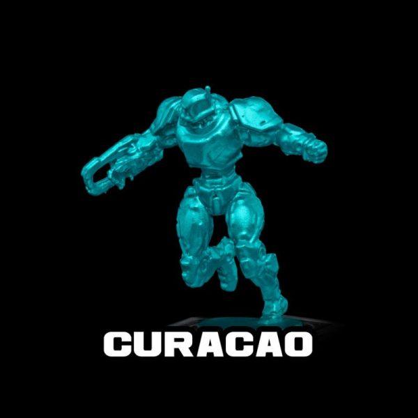 Turbo Dork   Turbo Dork Curacao Metallic Acrylic Paint 20ml Bottle - TDCURMTA20 - 631145994802