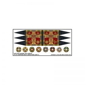 Gripping Beast SAGA  SAGA Scottish Banner & Shield Transfers - LBMS SAGA007 - LBMS SAGA007
