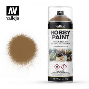 Vallejo   Spray Paint AV Spray Primer: Fantasy Color - Leather Brown 400ml - VAL28014 - 8429551280143