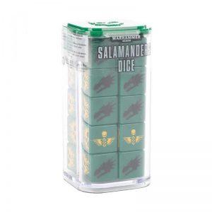 Games Workshop Warhammer 40,000  Salamanders Salamanders Dice Set - 99220101020 - 5011921124503