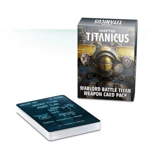Games Workshop (Direct) Adeptus Titanicus  Adeptus Titanicus Adeptus Titanicus: Warlord Battle Titan Weapon Card Pack - 60220399003 - 5011921103119