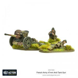 Warlord Games Bolt Action  France (BA) French Army 47mm Medium Anti-Tank Gun - 403015503 - 5060572501645