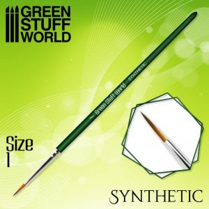 Green Stuff World   Synthetic Brushes GREEN SERIES Synthetic Brush - Size 1 - 8436574506891ES - 8436574506891