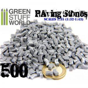 Green Stuff World   Modelling Bricks Model Paving Bricks - Grey x500 - 8436554367085ES - 8436554367085