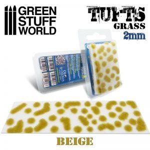 Green Stuff World   Tufts Grass TUFTS - 2mm self-adhesive - BEIGE - 8436574506983ES - 8436574506983